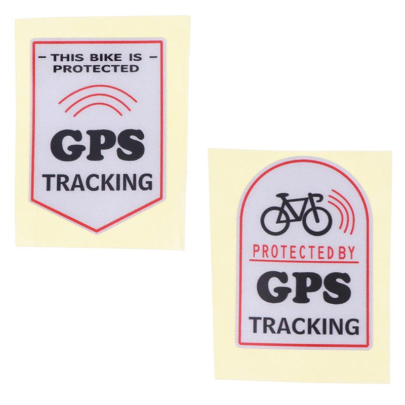 Anti Theft Safety Decal Bicycle GPS Tracking Stickers Bike Protect/_sh