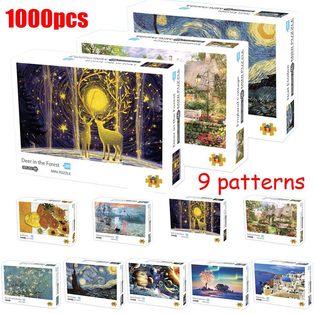 1000PCS Children Adult Kids Puzzles Educational Toy Decoration Jigsaw Puzzle