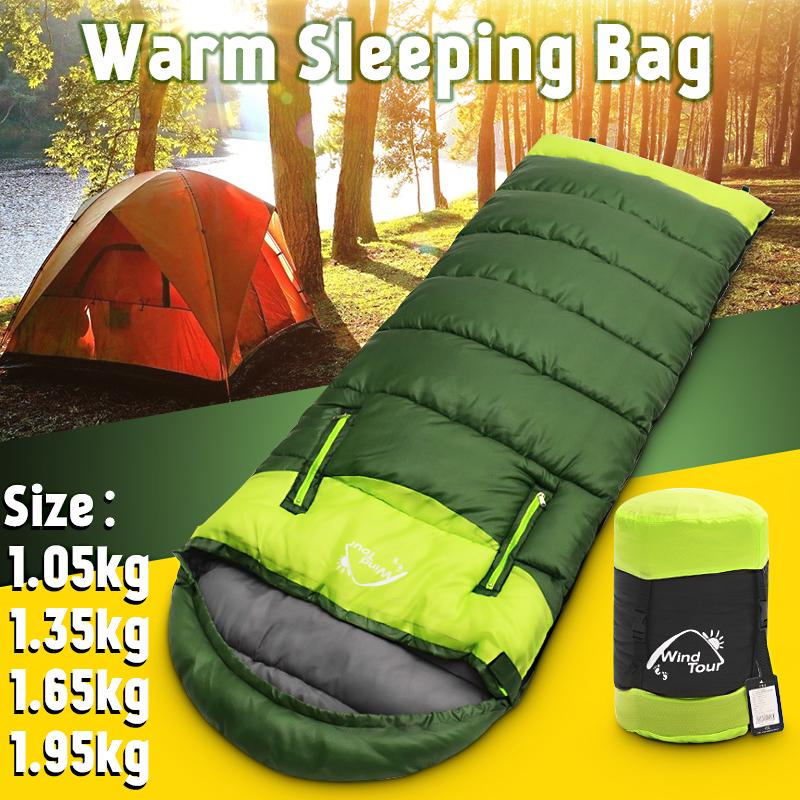 4 Season Camo Sleeping Bag Waterproof Outdoor Camping Hiking Fishing Single Bag
