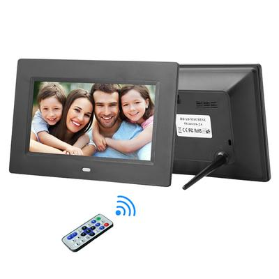 Liobaba HD Digital Photo Frame Electronic Album 17 Inches Front Touch Buttons Multi-Language LED Screen Pictures Music Video
