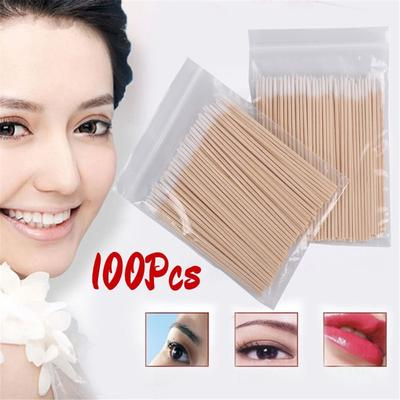 1000 Pcs Cotton Swabs Applicator Permanent Makeup Eyebrow Tattoo Supplies