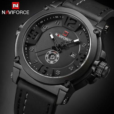 Big Men Watches Luxury Brand Waterproof Leather Watch Men Army Military Unique Date Male Wristwatch