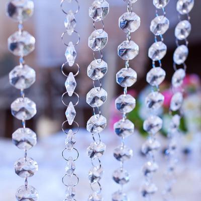 33ft//10M DIY Curtain Diamond Acrylic Crystal Beads Strand Garland Wedding Decor