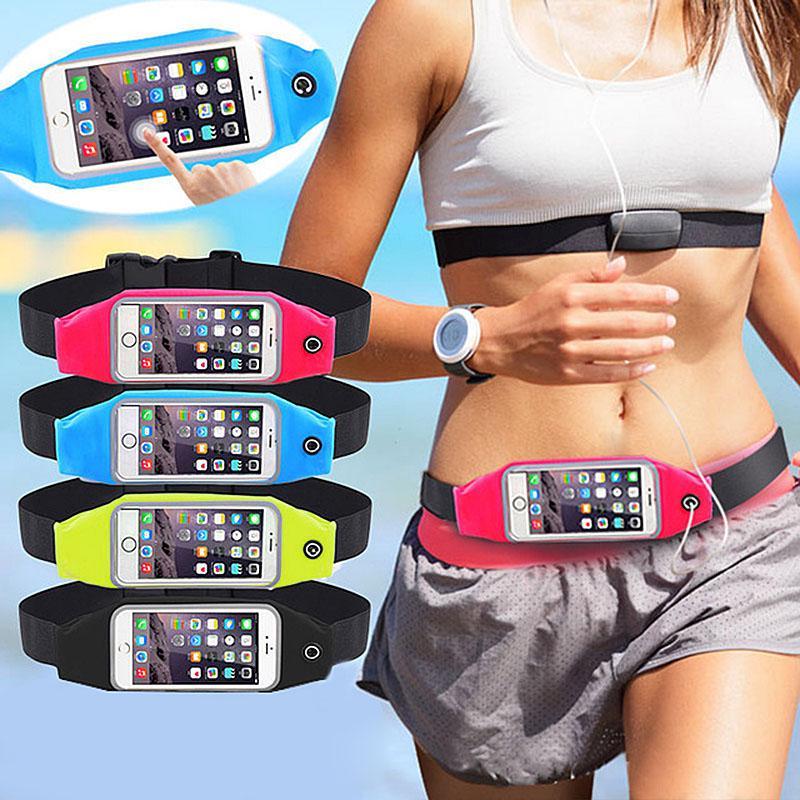 For ZTE Blade V7 Sports Running Jogging Gym Waist Band Bum Bag Case