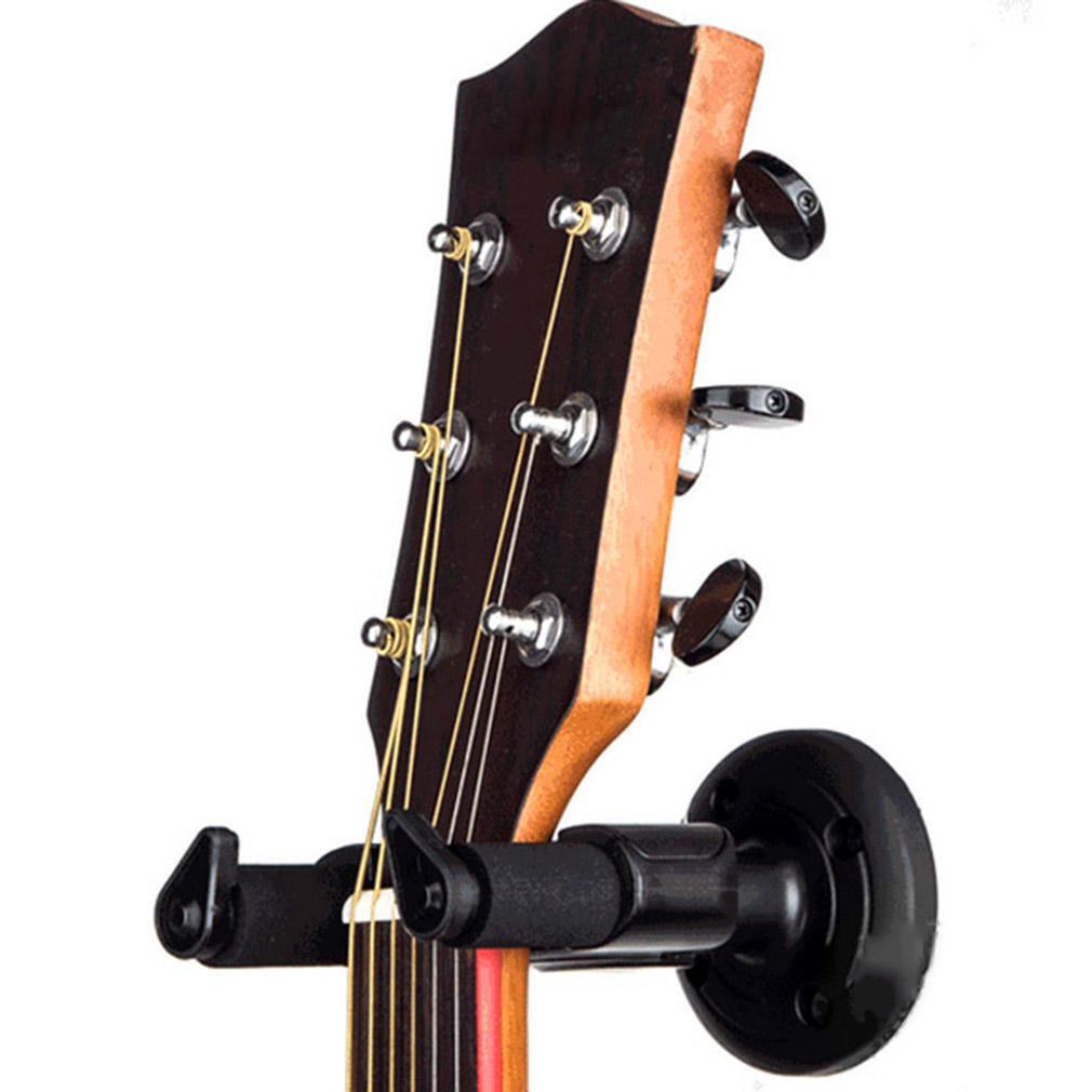 Soporte para colgador de guitarra el/éctrica Soporte de montaje en pared de gancho de rack para conjunto de guitarra de todos los tama/ños Negro