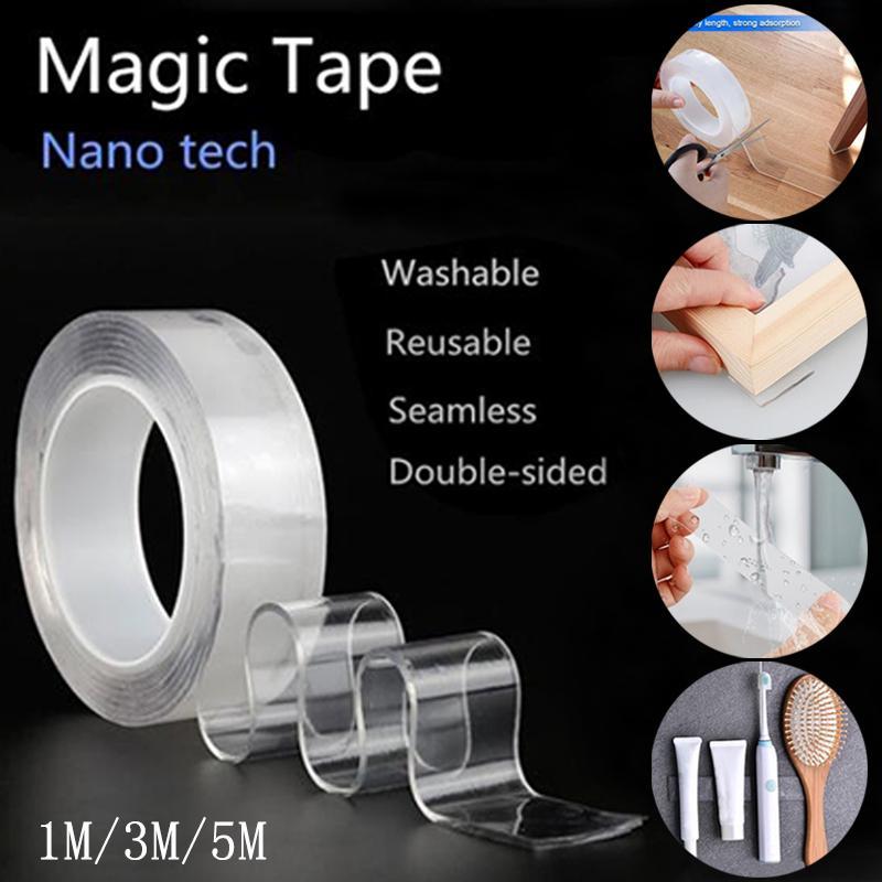 Nano-Adhesive Multi-Function Transparent Seamless Washable Magic Adhesive Tape