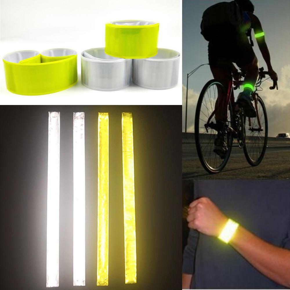 2 x Reflective High Viz Slap Wrap Arm Band Ankle Trouser Clip Bike Bicycle Cycle