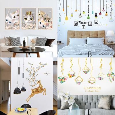 Inkjet Removable Cartoon Wall Stickers Home Interior Wall Stickers Buy At A Low Prices On Joom E Commerce Platform