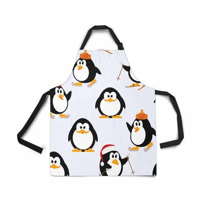 Psycho Penguin Apron Revenge Is A Dish Best Served Cold White