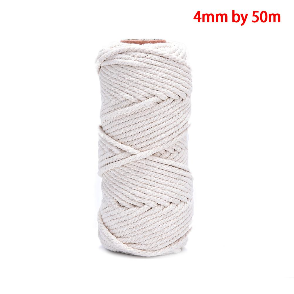 Nordic Jute Natural Hand Woven Cotton Rope Placemat Coaster
