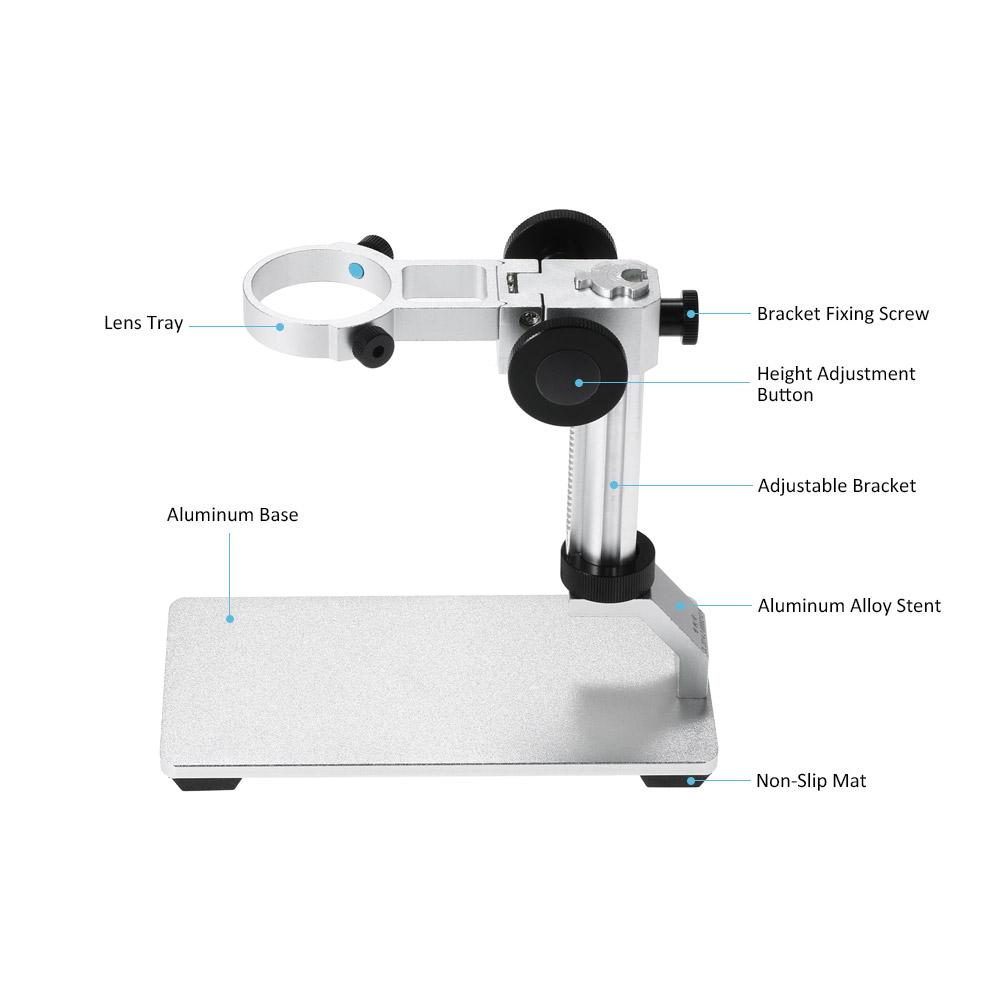 Plastic Holder 1 Microscope Microscope Professional 3MP Electronic Microscope 10X-1000X High Pixels Manual Focusing Microscope with 8 LEDs Adjustable Brightness USB Magnifier with Holder