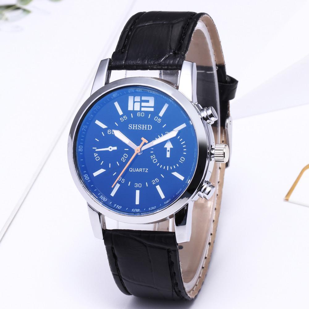 09d9df36c38b MODIYA vidrio reloj cuarzo militar Neutral cuero correa banda reloj de  pulsera - comprar a precios bajos en la tienda en línea Joom