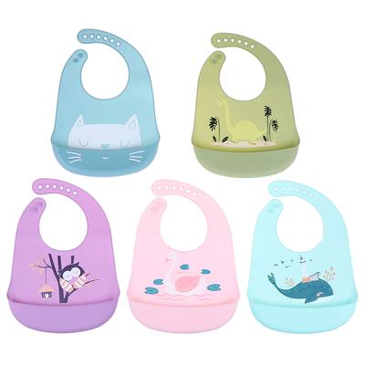Waterproof Baby Bibs Burp Cloths Kids Toddler Silicone Feeding Aprons for Baby