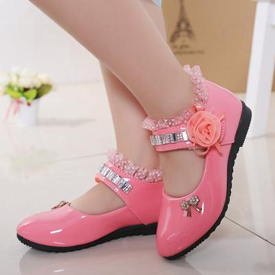 Children's Shoes Rhinestone Princess Shoes Children's Dancing Shoes