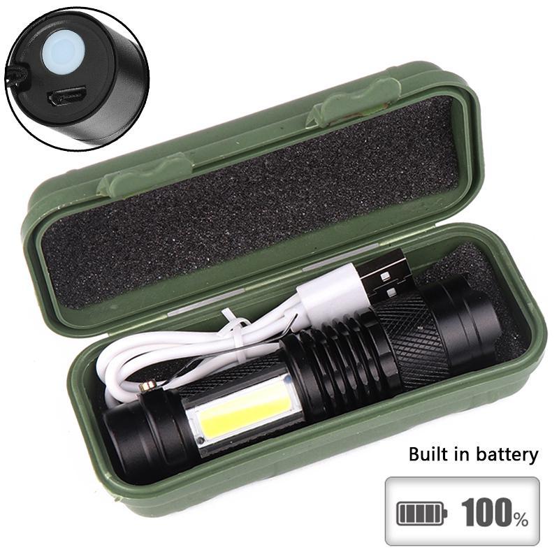 6 Colors 3 Modes Mini LED Flashlight Zoom Focus Torch Lamp Penlight Waterproof