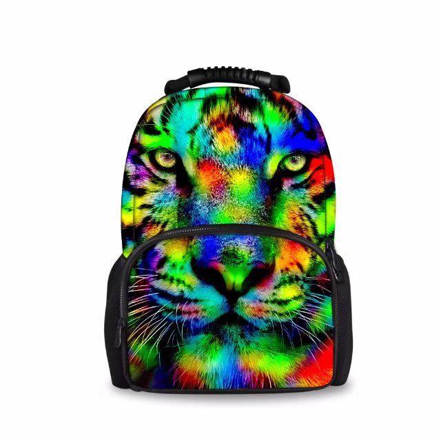 025cbecfb1dd Подростка разноцветные животных школа рюкзак шерсти Войлочная сумка ...