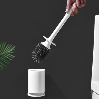 ONEUP TPR Toilet Brush Rubber Head Holder Cleaning Brush For Toilet Wall Hanging