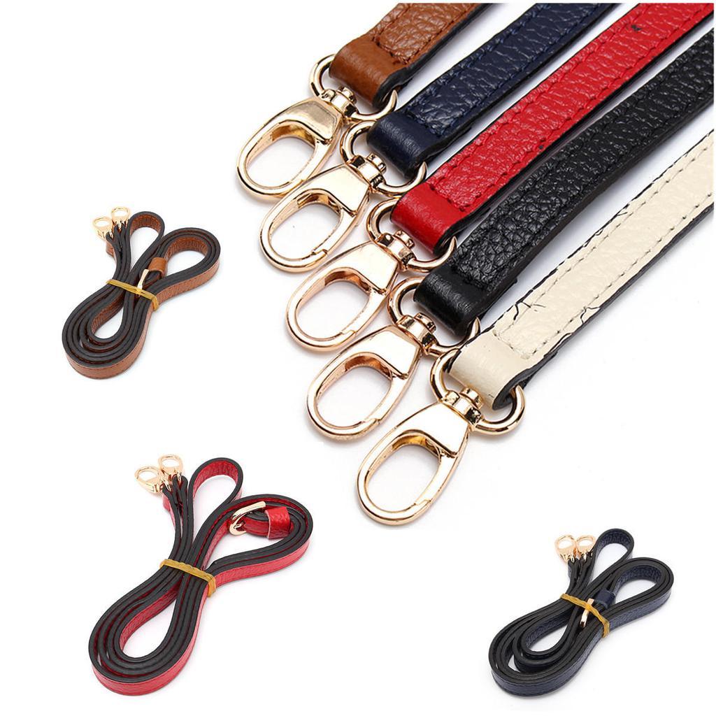 Replacement Leather Shoulder Strap DIY Cross Body Adjustable Handbag Strap Brown