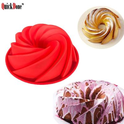 Baking Mold Mould Chocolate Silicone   Pan Large Swirl Cake Bakeware Nonstick
