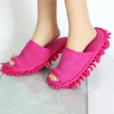 Home Floor Cleaning Slippers Chenille