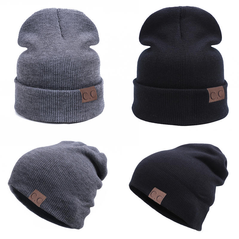 Punto gorra hip-hop parejas CC etiquetado gorros sombrero al aire ...