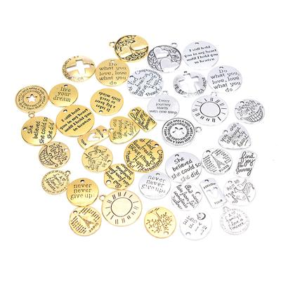 54Pcs Pendant Kit Hanging Ornament Hanging Pendant for Necklace Bracelet Tree
