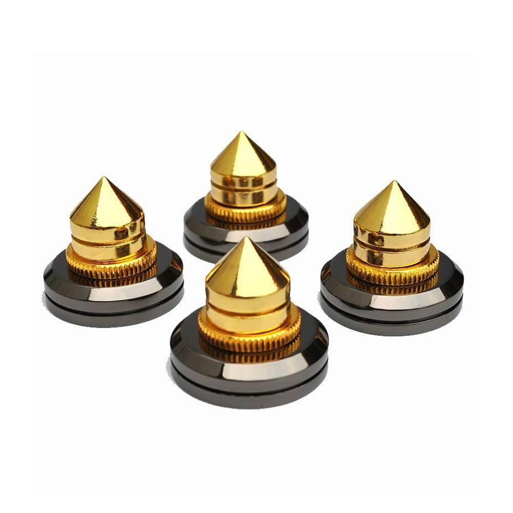 4PCS M6*36 Speaker Spike Isolation Spike Stand Foot Speaker Cone Spike Base Pads