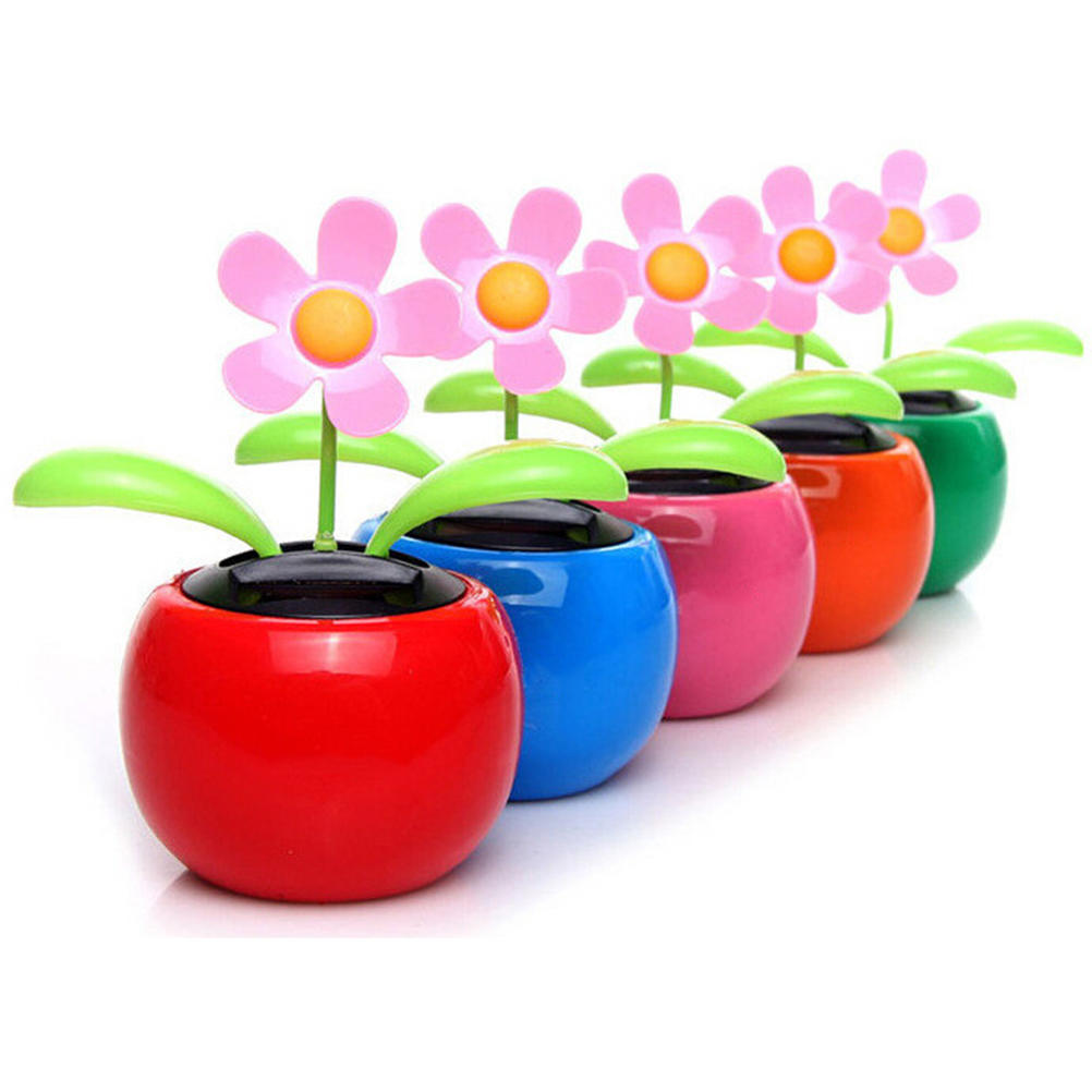2d04d2ea8bdcd Hot Home Car Flowerpot Solar Power Flip Flap Flower Plant Swing Auto ...