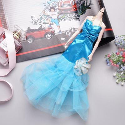 Schöne Barbie Puppe Meerjungfrau Fischschwanz Kleid Baby Doll