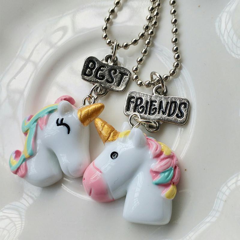 b92e9c07c6bb Collares colgantes de unicornio para niños niñas mejor amigo ...