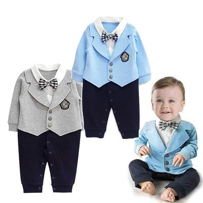 d9c567c34 1Pcs Kid Baby Boy Gentleman Romper Jumpsuit Bodysuit Clothes Outfit ...