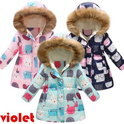 Loving Heart Bow Winter Warm Hooded Windproof Coat Willsa Baby Girls Jacket
