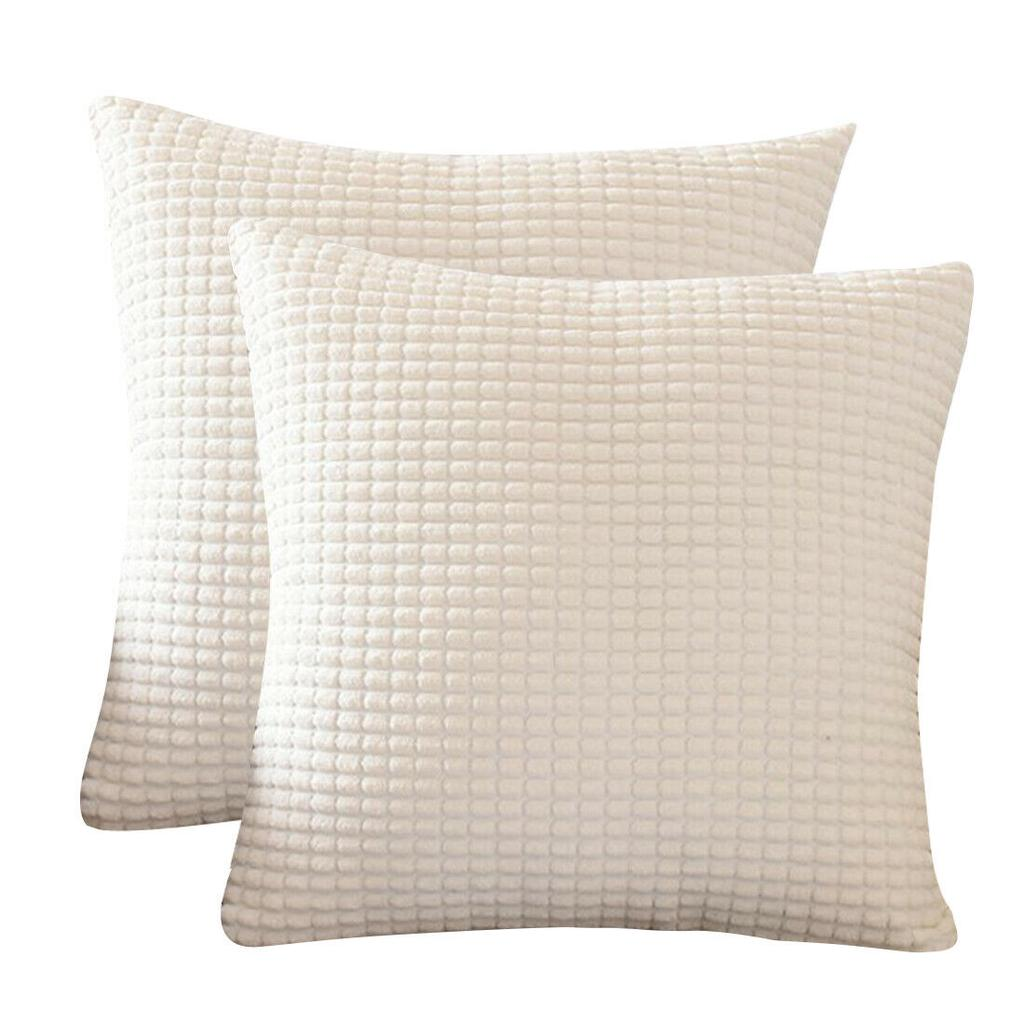 Set of 2 Corduroy Waist Throw Pillow Case Cushion Covers Home Sofa Bed Decor