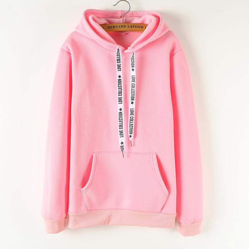 YANMUXI Casual Solid Color Sweatshirt Women Long Sleeve