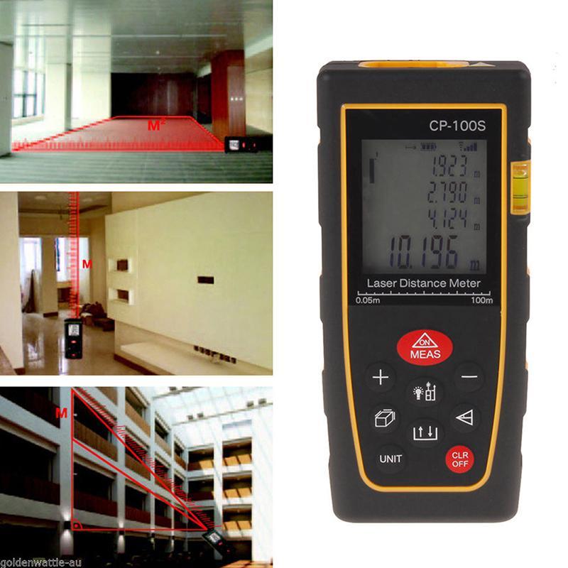 100M//328FT Digital Laser LCD Distance Meter Range Finder Measure Diastimeter