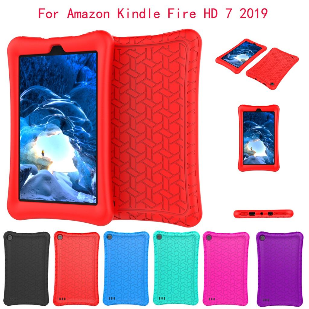 Tablets Protect Case 2017 PU Leather Slim Triple Fold Bracket Case for fire HD7 Case Cover Shell Leather Cover Sleeve Pouch Super Fit
