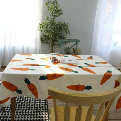 Carrot Vegetable Creative Tablecloth Fabric Garden Coffee