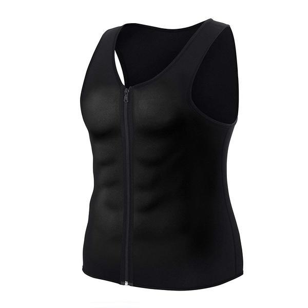 Men Body Shaper Sauna Vest Waist Trainer Slimming Sweat Shirt Polymer Corset Top
