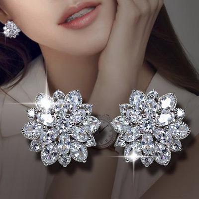 ChicSilver 925 Sterling Silver Men Women CZ Stud Earrings Cute Skull Studs Gothic Cool Statement Skeleton Jewelry