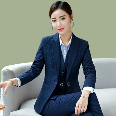 b24d139ffb8 Women Formal Business Suit 3pcs Vest+Pant or Skirt +Jacket Sets Ladies  Blazers Women