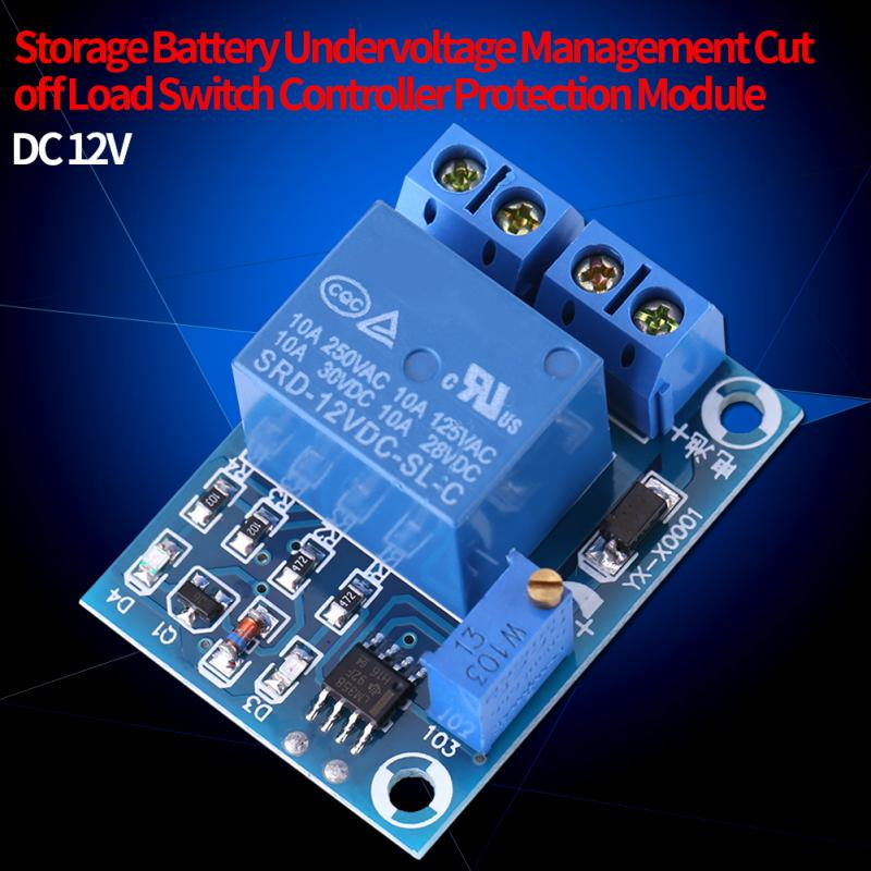 Undervoltage Protection Controller 12V Automatic Switch On Storage Battery Module Battery Low Voltage Cut Off/
