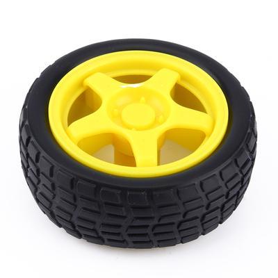 1PCS Small Smart Car Model Robot Plastic Tire Wheel 65x26mm for arduino