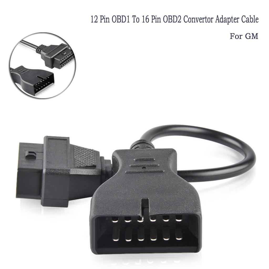 GM 12Pin OBD 1 to 16 Pin OBD 2 Convertor Adapter Cable For Diagnostic Scanner