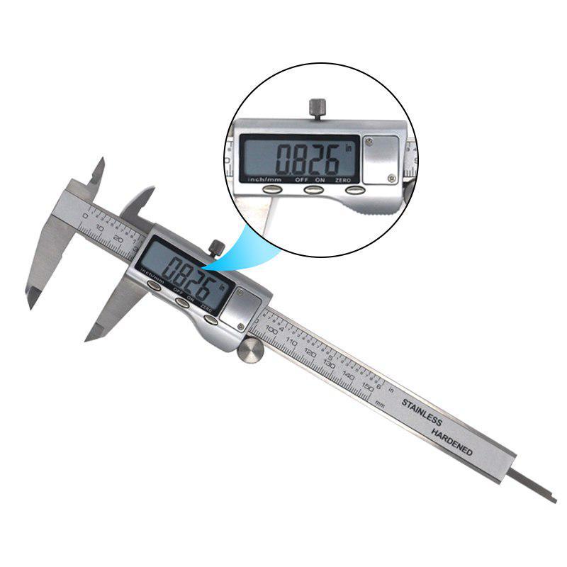 Full Stainless Steel Digital Vernier Caliper 6 Inch 150mm Electronic Caliper Micrometer Depth Buy From 18 On Joom E Commerce Platform