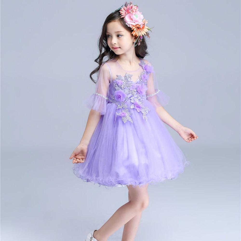 Niña falda de flores para cumpleaños que infantiles ropa princesa ...