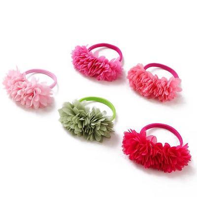 Velvet Scrunchie Women Elastic Hair Bands Girls Head Flowers Loop Holder Tie Acc