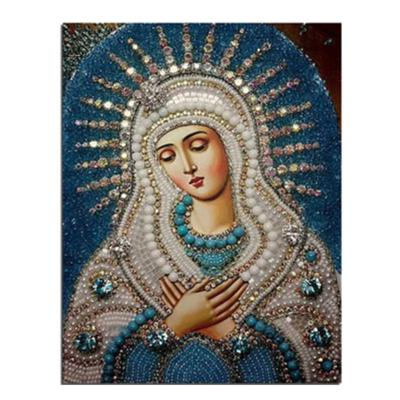 2Pcs Religious Madonna Design DIY Diamond Painting Picture Craft Home Decor