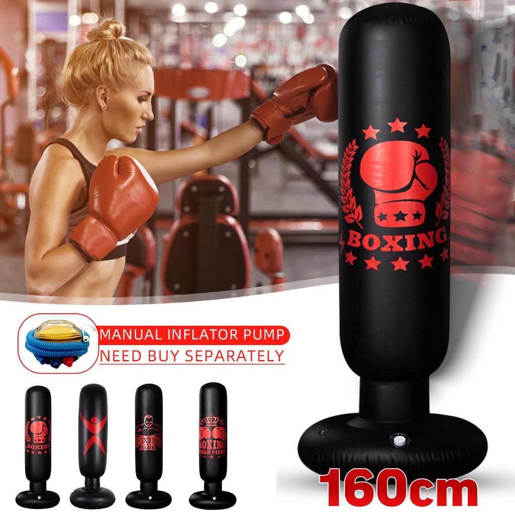 1.6M Inflatable Punching Bag Boxing Standing Tumbler Sandbag Fitness Training