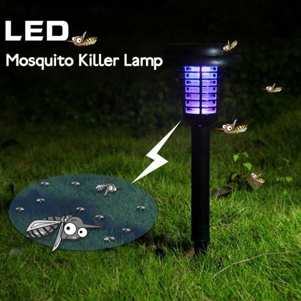4PCS Solar Power LED Light Mosquito Killer Outdoor Garden Landscape Lawn Lamp