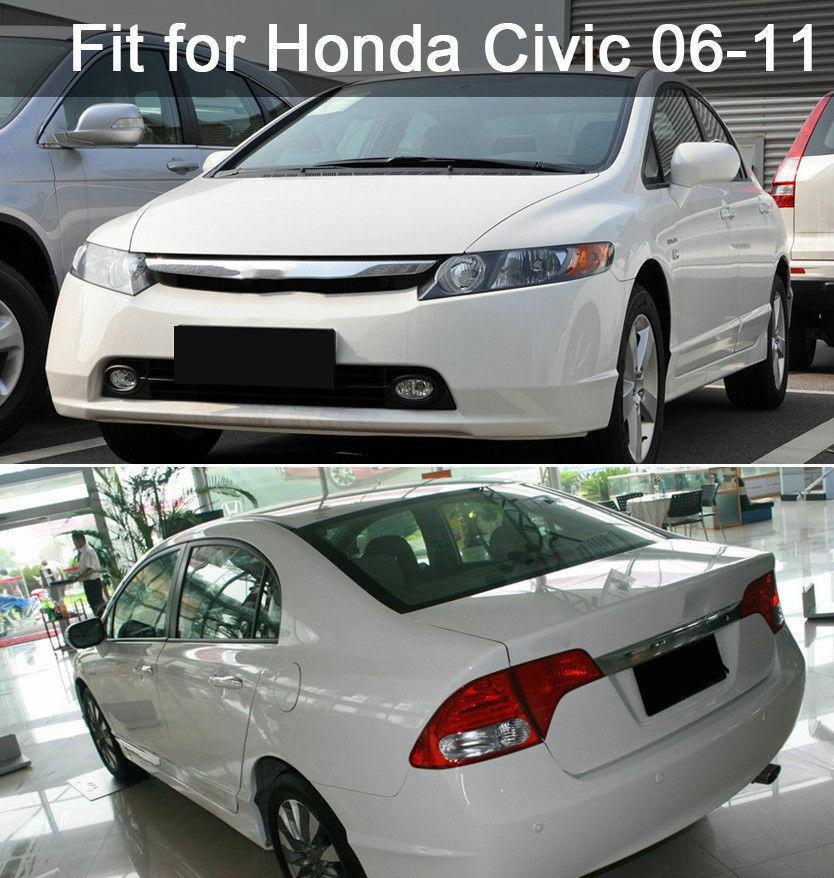 Fit for Honda Civic 2006-11 Mirror effect Window Pillar Posts Cover Trim 6PCS